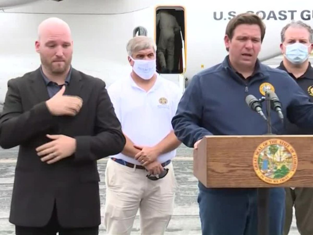 Gov. DeSantis gives update on relief efforts after Hurricane Sally