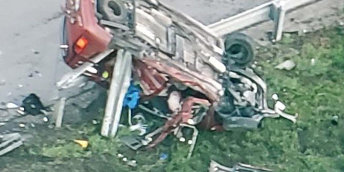 Rollover crash on Florida's Turnpike near Boynton Beach Blvd.
