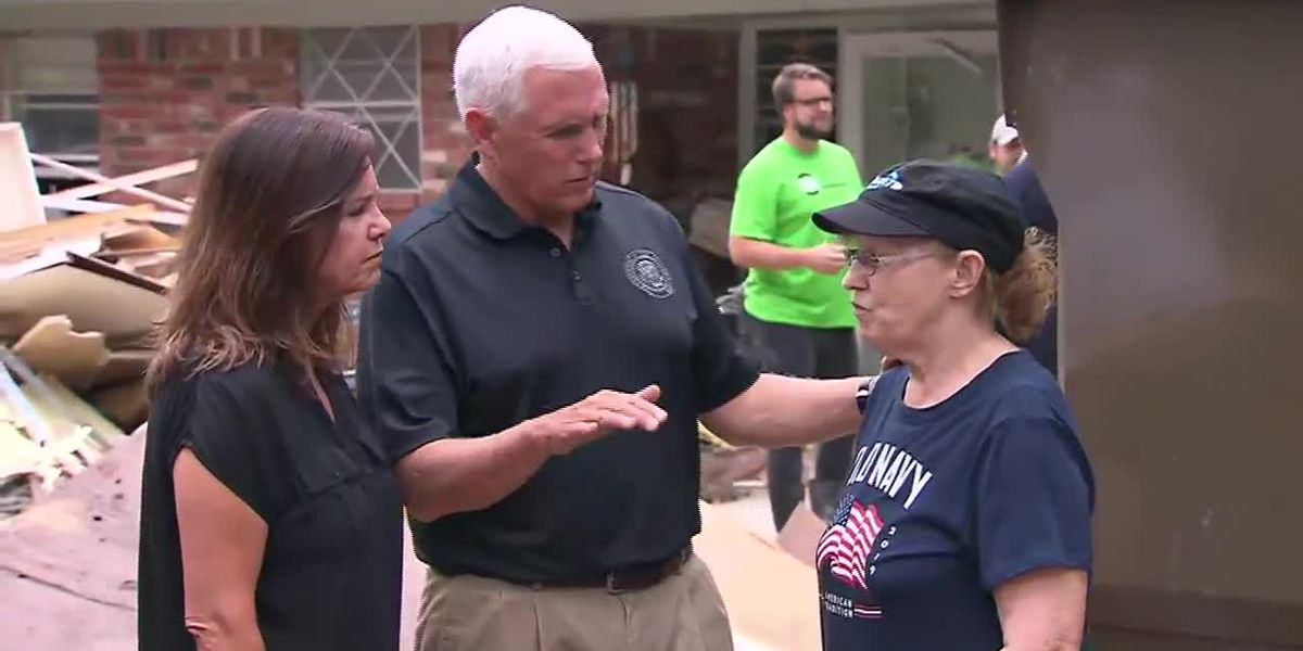 Pence meets with Oklahoma flood victims