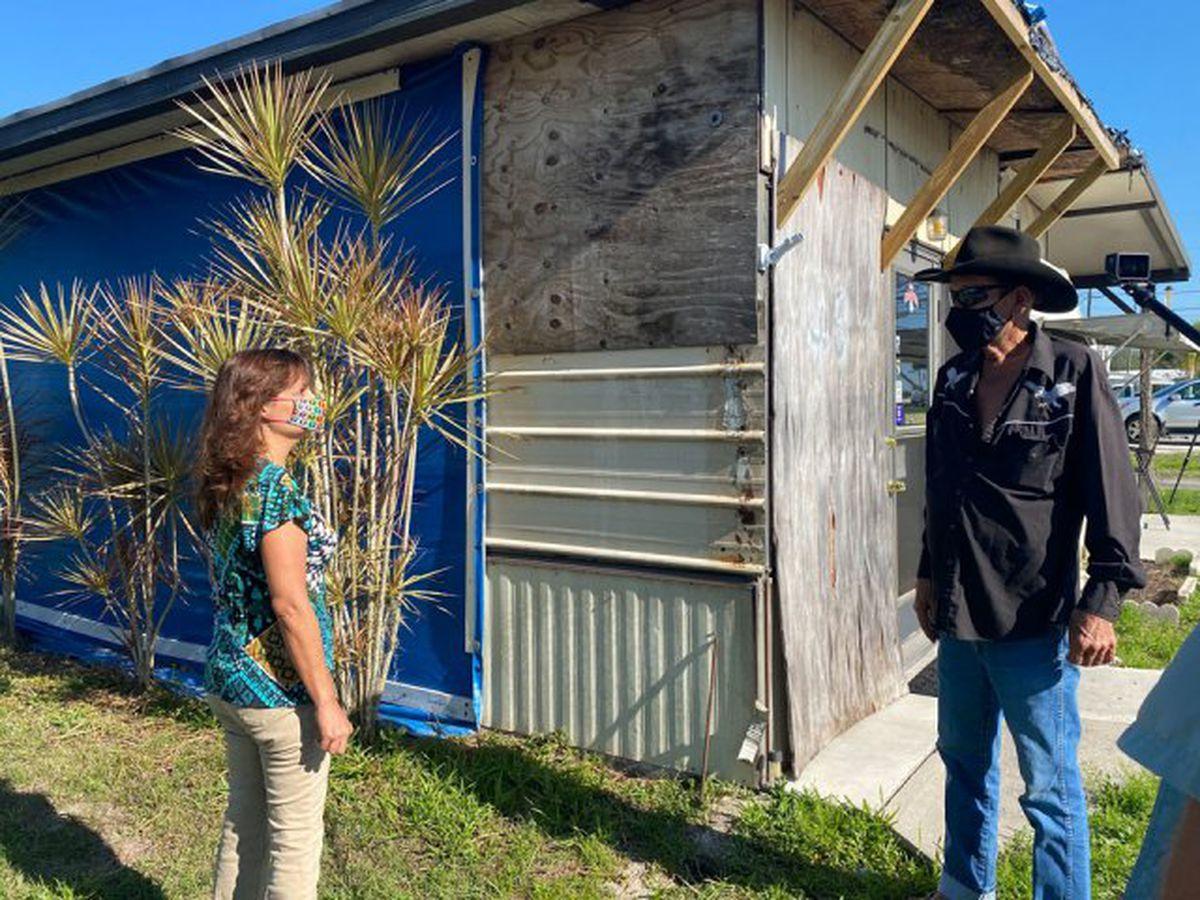 Okeechobee woman helps neighbor save hurricane-damaged home