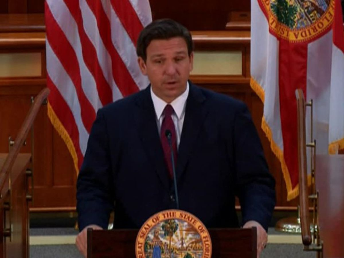 Gov. DeSantis holds news conference in Tallahassee