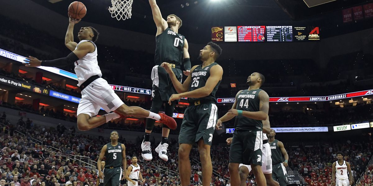 Louisville upsets No. 9 Michigan State 82-78 in overtime