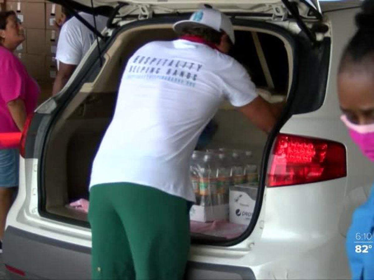 Food distribution held at the Port of Palm Beach