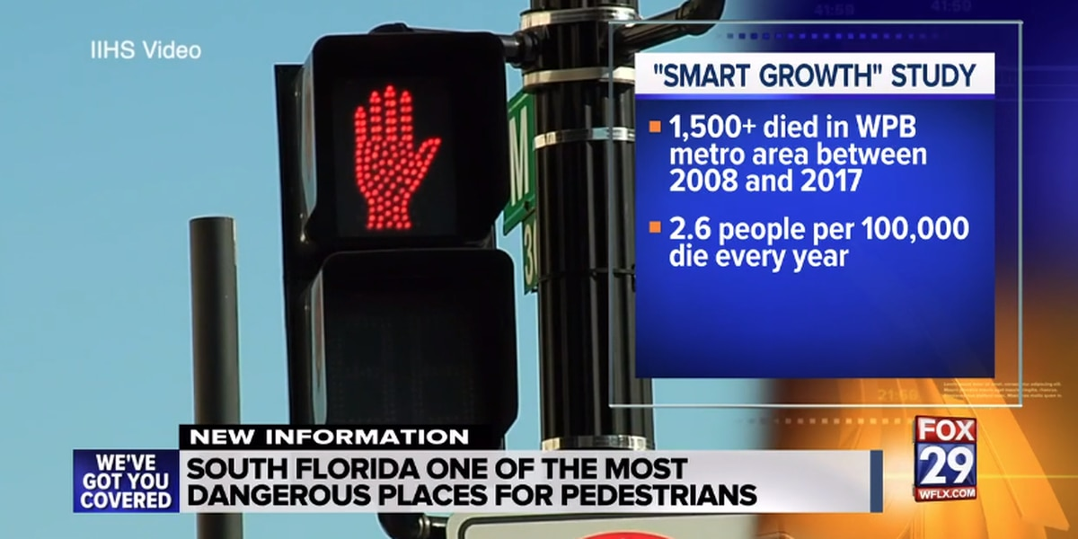 Study says South Florida one of the most dangerous cities for pedestrian deaths in the U.S.