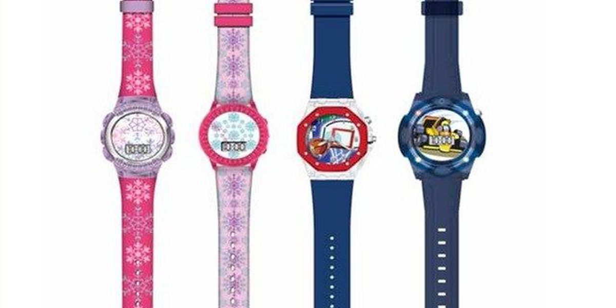 Nearly 2 million MZB children's 'Light Up' watches recalled due to the risk of skin irritation