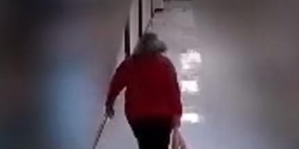 Video shows teacher dragging autistic student down hallways, around corners