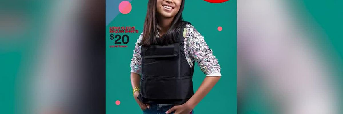 Florida man makes mock back to school ads with bulletproof gear