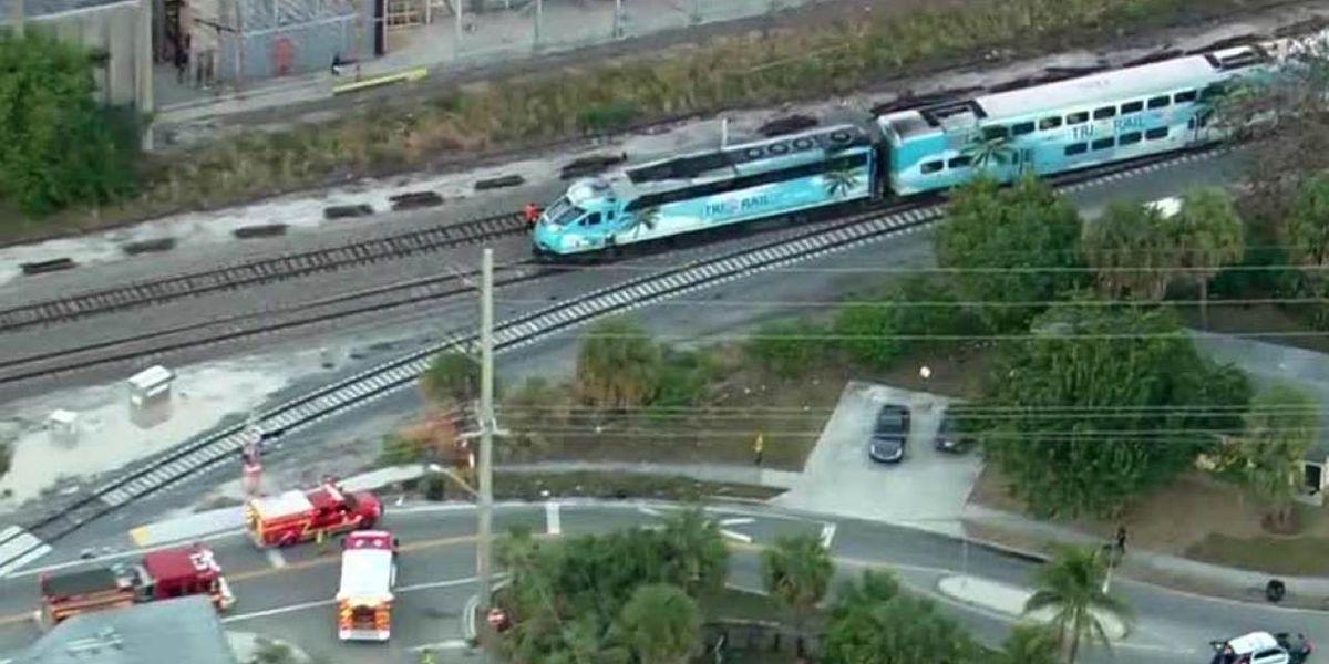 Amtrak train hits bicyclist in suburban West Palm Beach