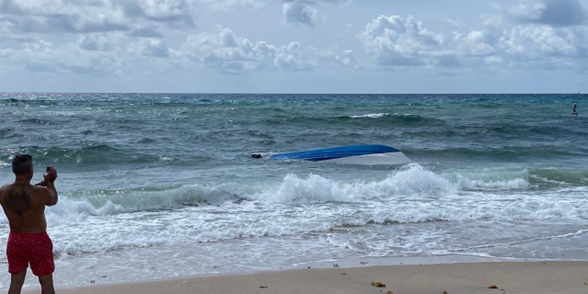 3 boaters rescued from capsized boat near Boynton Beach