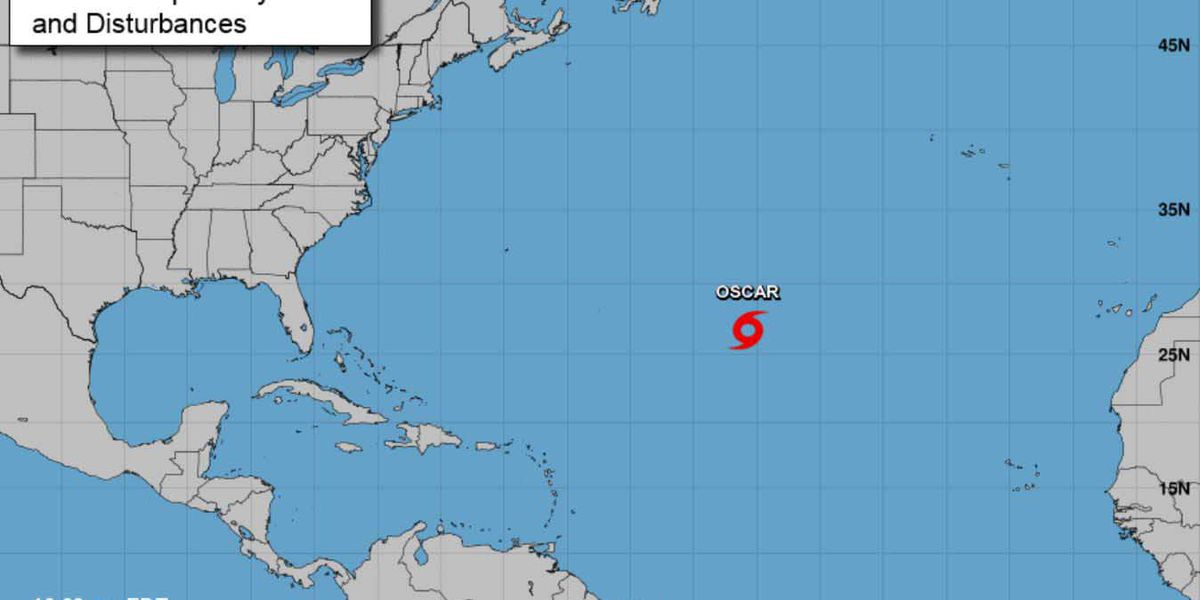 Atlantic Hurricane Oscar moving westward: NHC