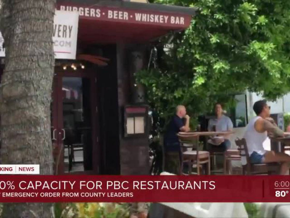 Palm Beach Co. restaurants move to 100% seating capacity