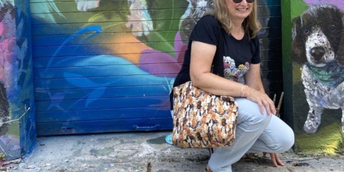 Blind Boynton Beach dog featured in vibrant pet mural