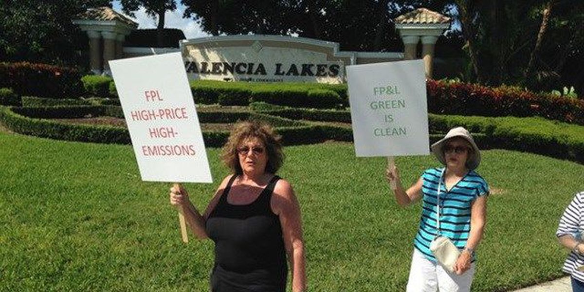 Boynton residents protest FPL over street lights