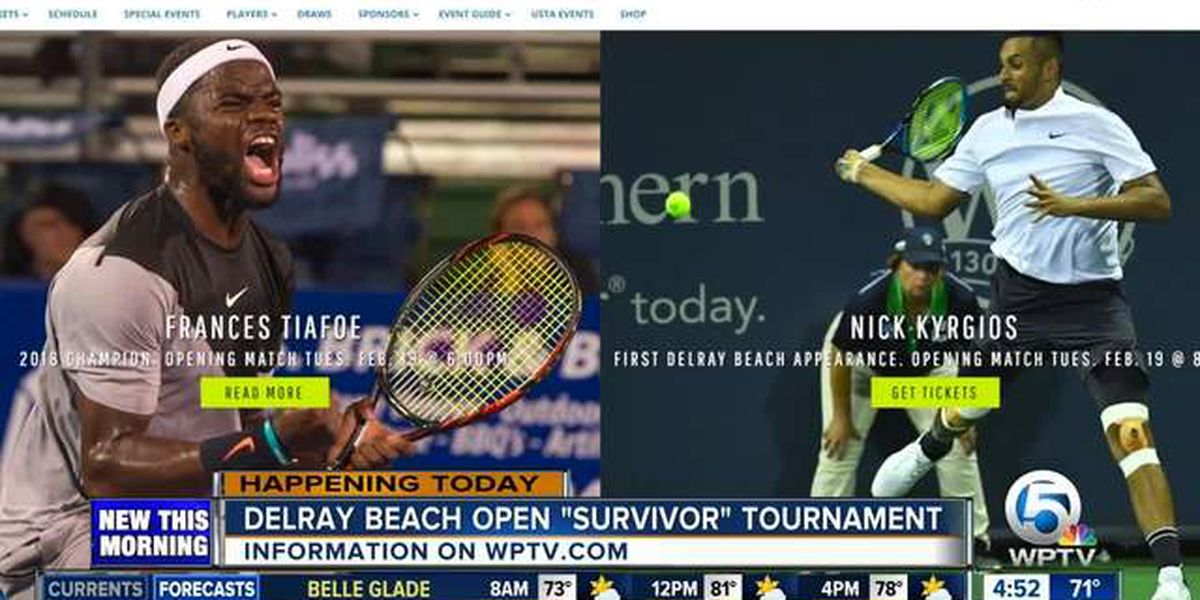 Wildcard tennis tourney held in Delray Beach