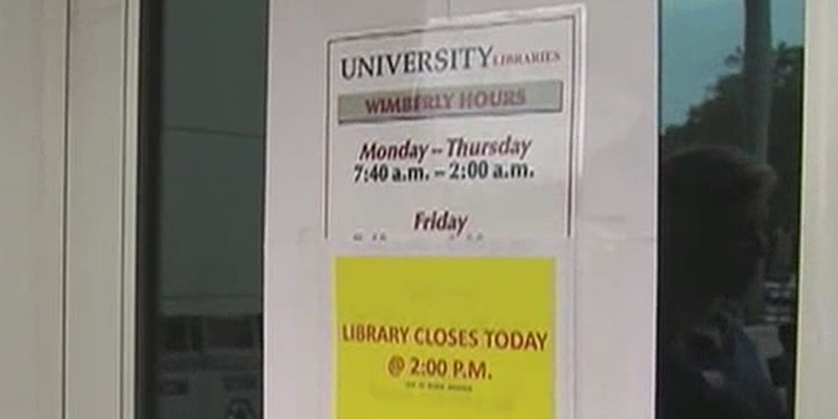 Classes cancelled at FAU due to weather, while crews clean up the mess left behind in Boca Raton