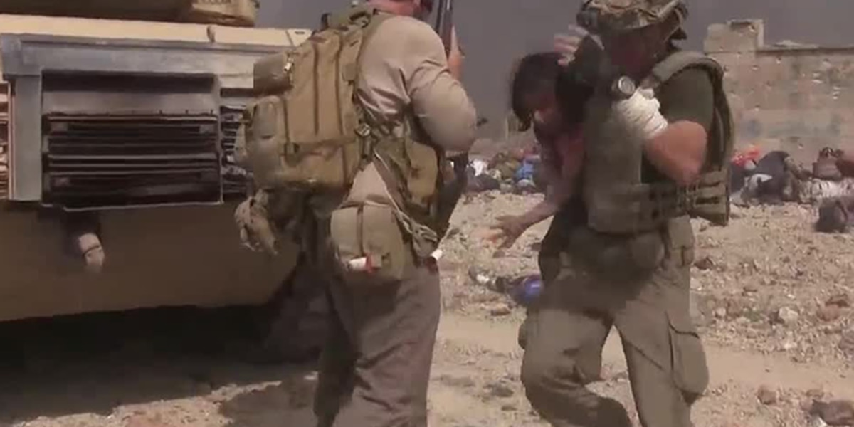 Girl rescued from ISIS gunfire