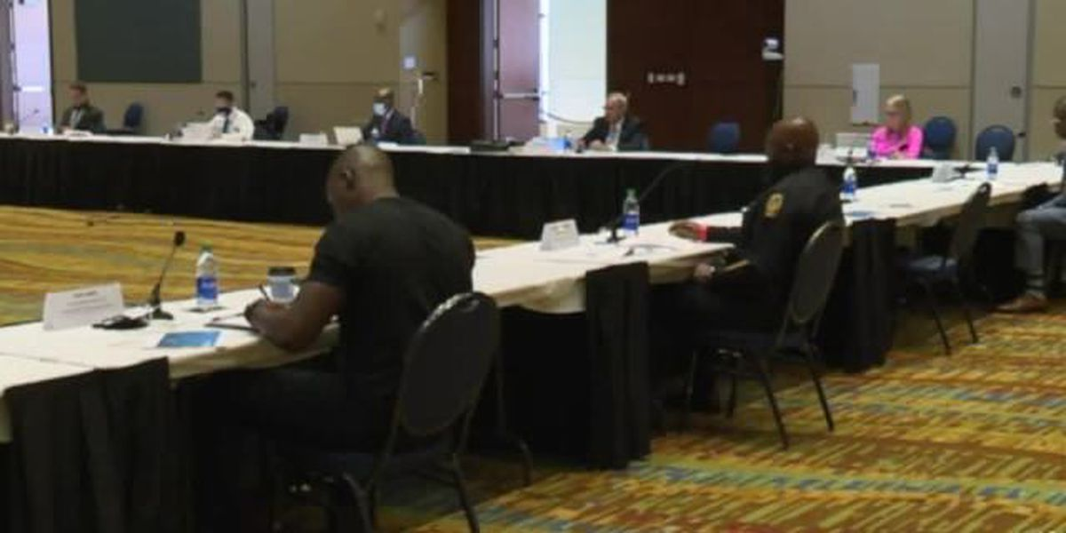 Law enforcement and politicians meet to discuss policing