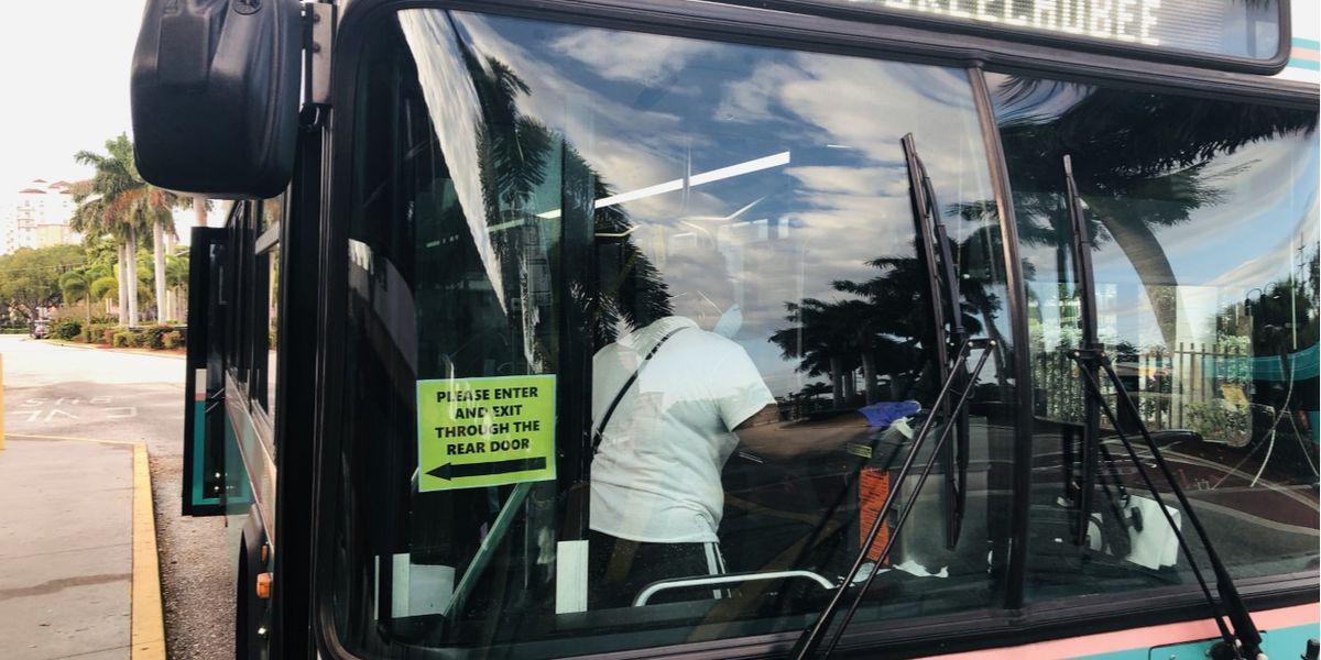 Palm Tran offers free bus rides