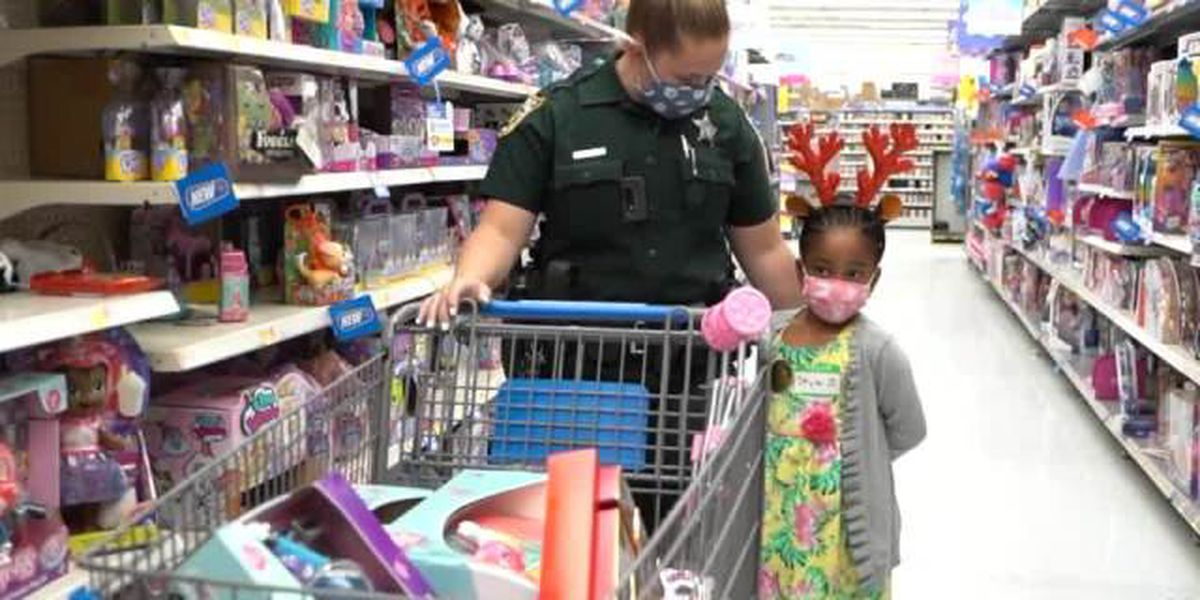 St. Lucie County Shop with a Cop event delivering holiday cheer