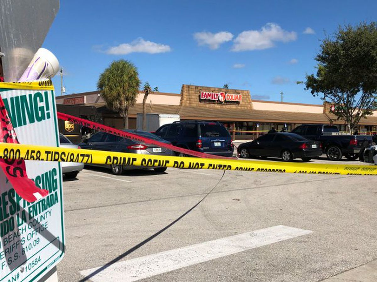 Man shot in leg near Family Dollar in Palm Beach County