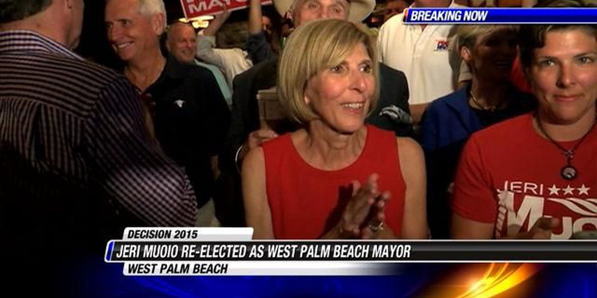 West Palm Beach Mayor Jeri Muoio re-elected