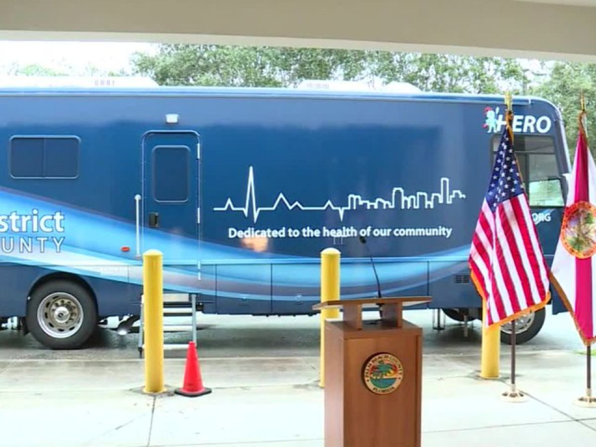 Palm Beach County introduces 'Hero' mobile COVID-19 testing vehicle