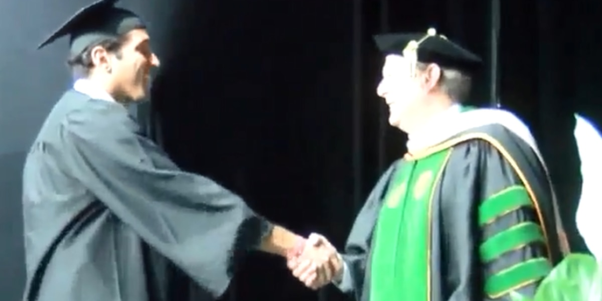 Man recovers from coma, graduates college