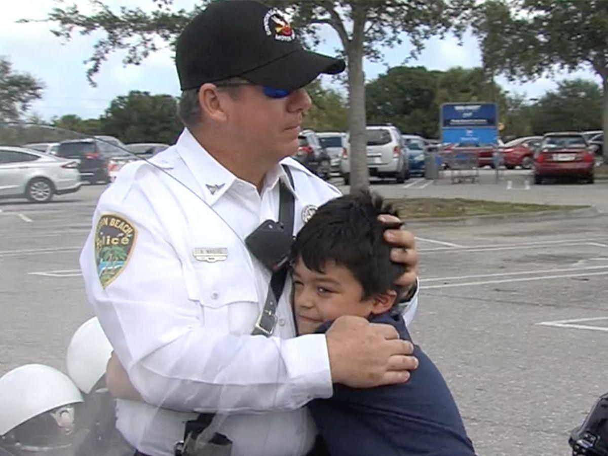 Boynton Beach police officer creates special bond with little boy
