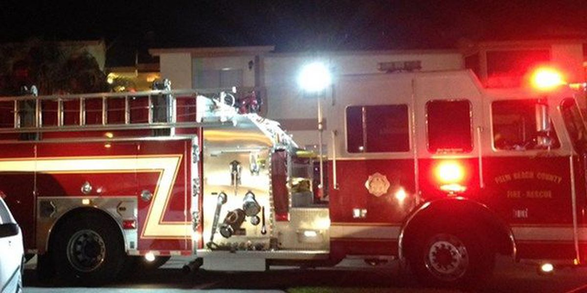 Overnight condo fire sends 2 people to hospital