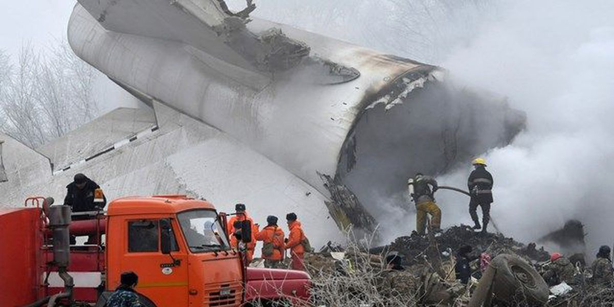 Cargo plane crash kills 37 in Kyrgyzstan