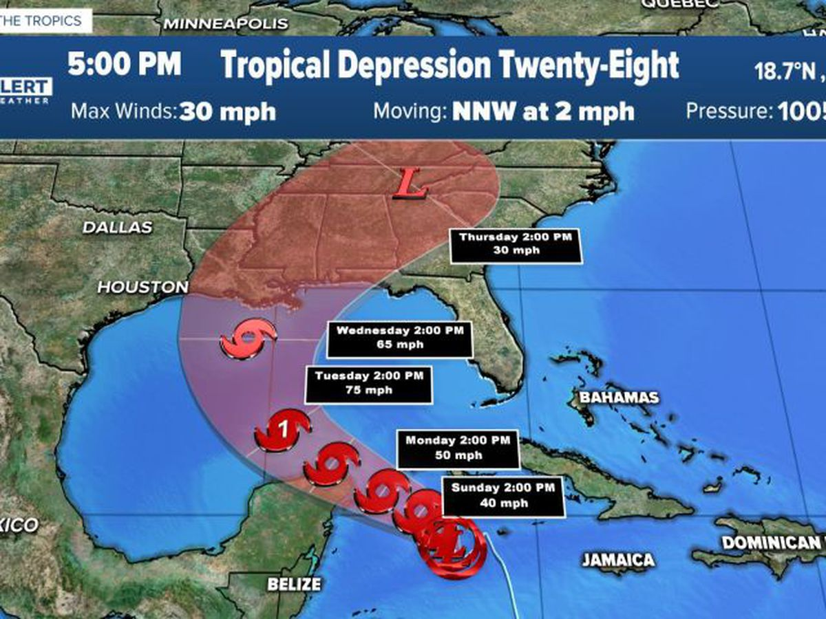 Tropical Depression 28 forms, expected to become tropical storm