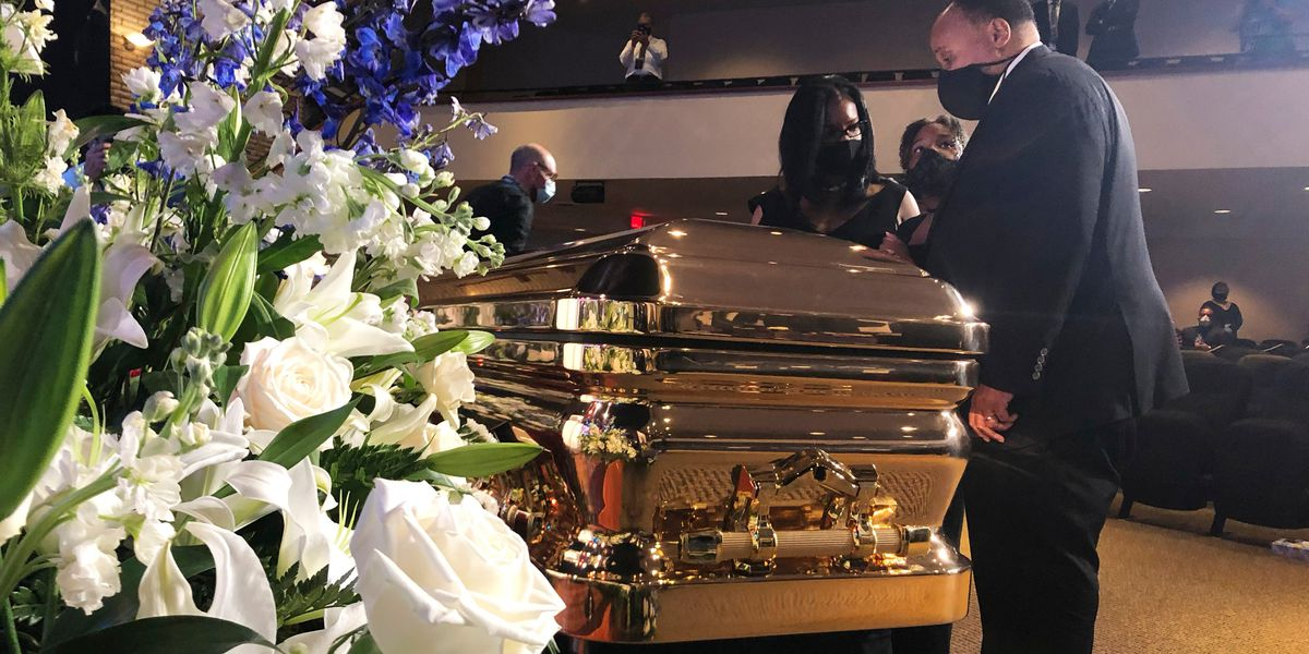 LIVE: Celebrities, politicians flock to Floyd memorial service
