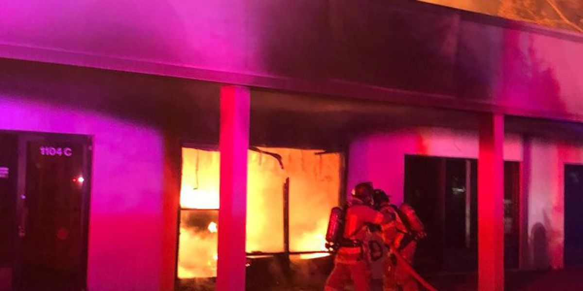 'Suspicious' Thanksgiving fire engulfs Florida shopping center