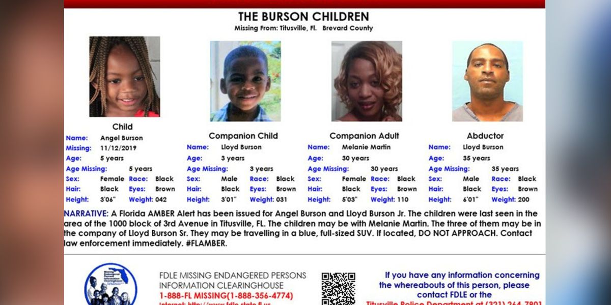 2 Florida children found safe after Amber Alert