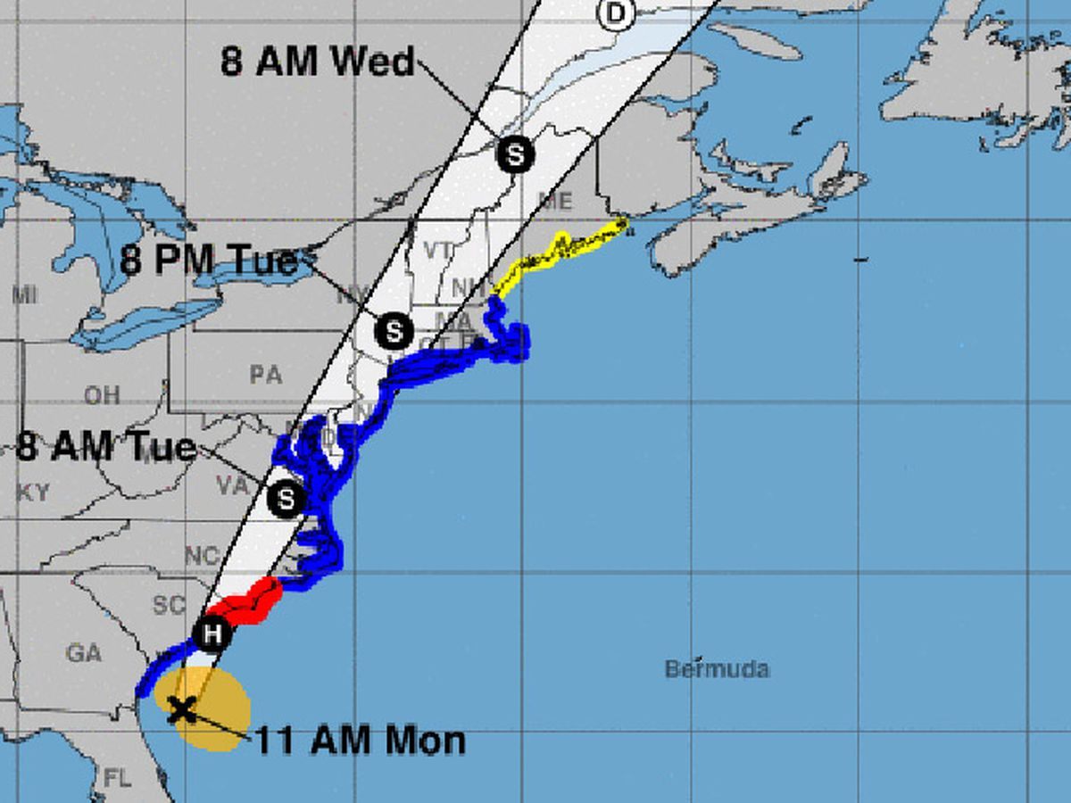 Isaias nears hurricane strength as it crawls toward Carolinas