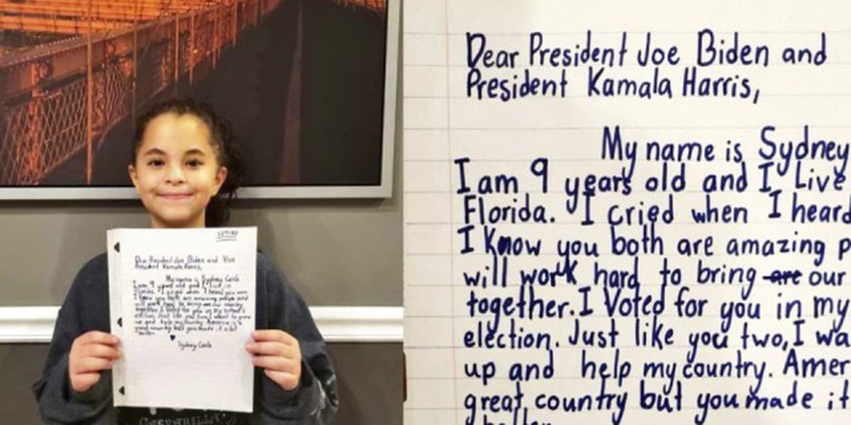 Mother Hopes Daughter S Letter Catches Attention Of Biden Harris