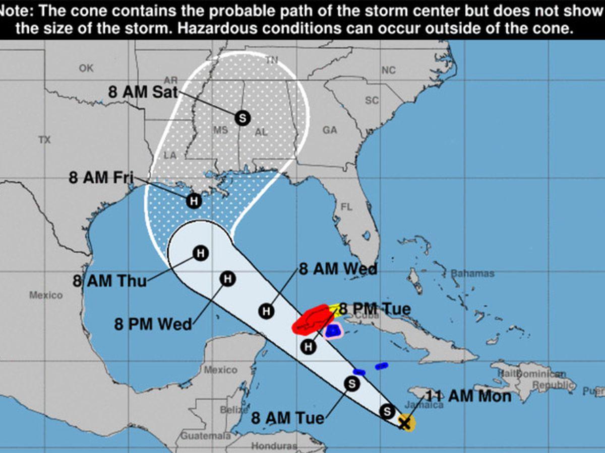 Delta grows into hurricane in Caribbean; eyes Yucatan, Cuba