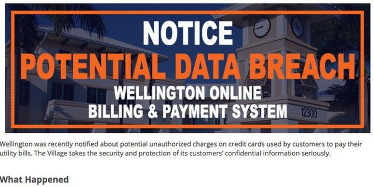 Possible breach of Wellington billing system