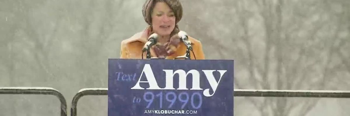 Democrat Minnesota Sen. Amy Klobuchar announces her candidacy for president