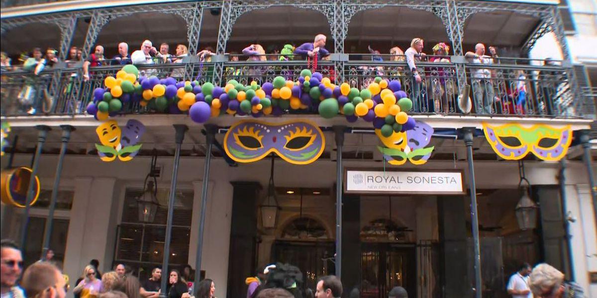 Muted Mardi Gras: Closed bars, barricaded Bourbon Street