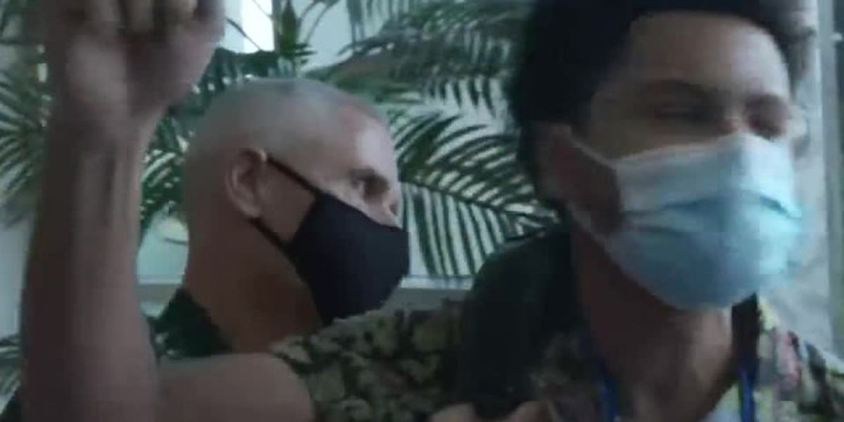 'Shame on you': Florida governor heckled during coronavirus briefing in Orlando