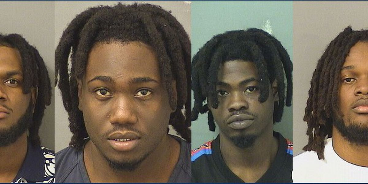 Four men arrested with guns, drugs, and cash in Boynton Beach