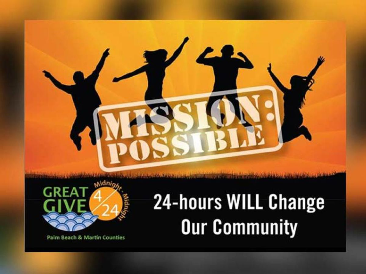 'Great Give' campaign raising money for charity Wednesday in Palm Beach, Martin counties