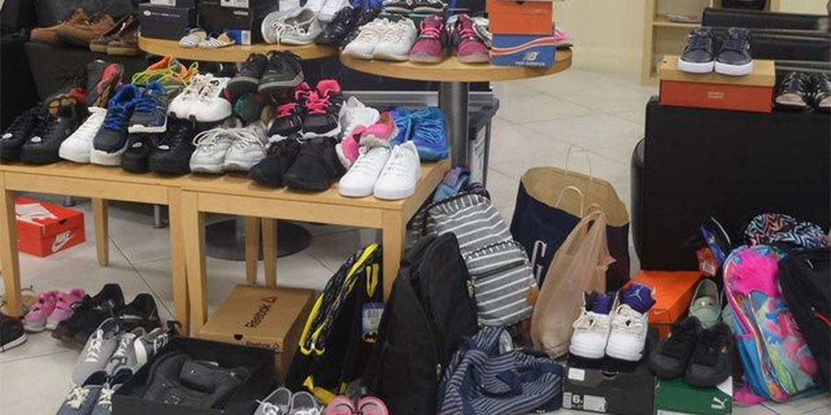 Shoes, backpacks donated to local charity