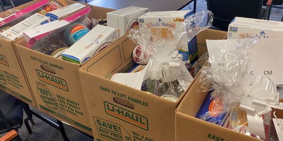 Alpert Jewish Family Service hands out packaged Passover meals