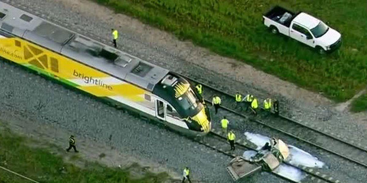 Truck struck by Brightline train in Lake Worth