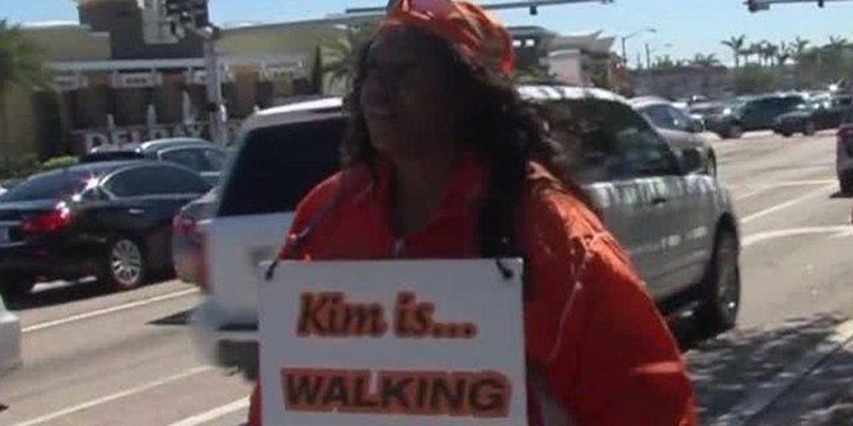 Woman walks across America for homeless vets