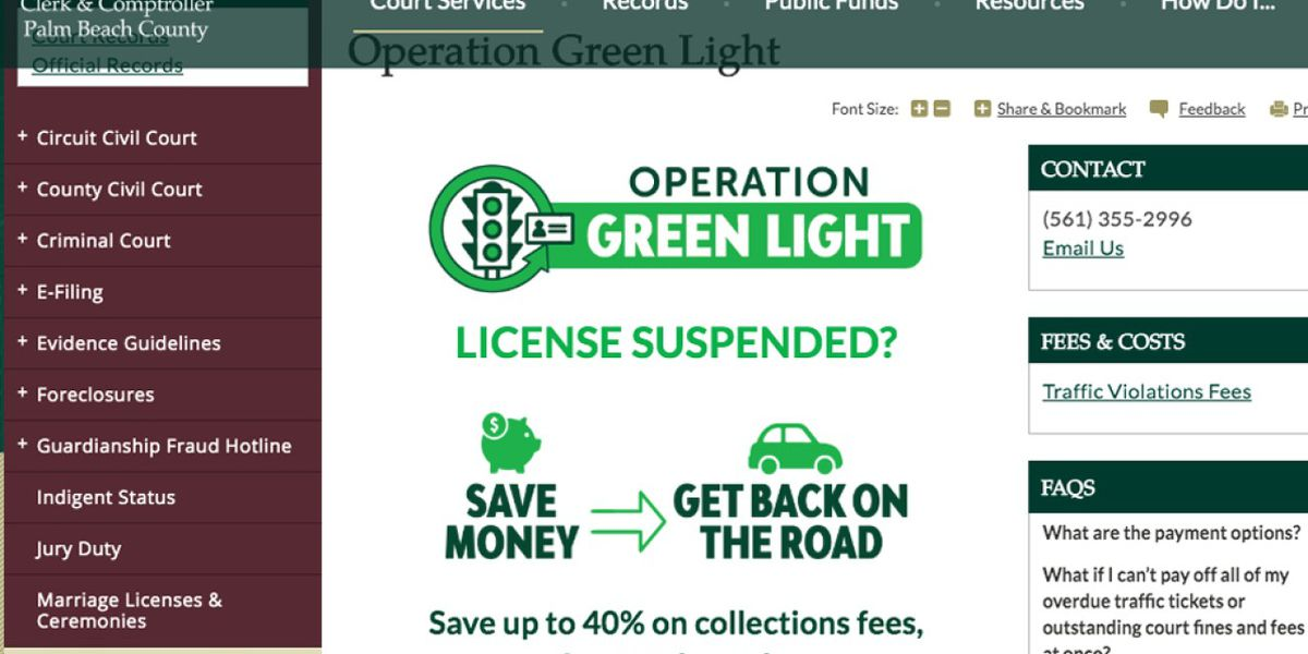 'Operation Green Light': Get your license back, save on fees on Oct. 19