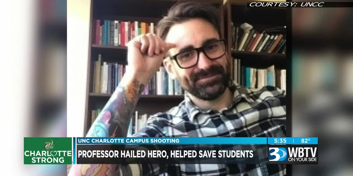 Professor hailed hero, helped save students in UNCC shooting