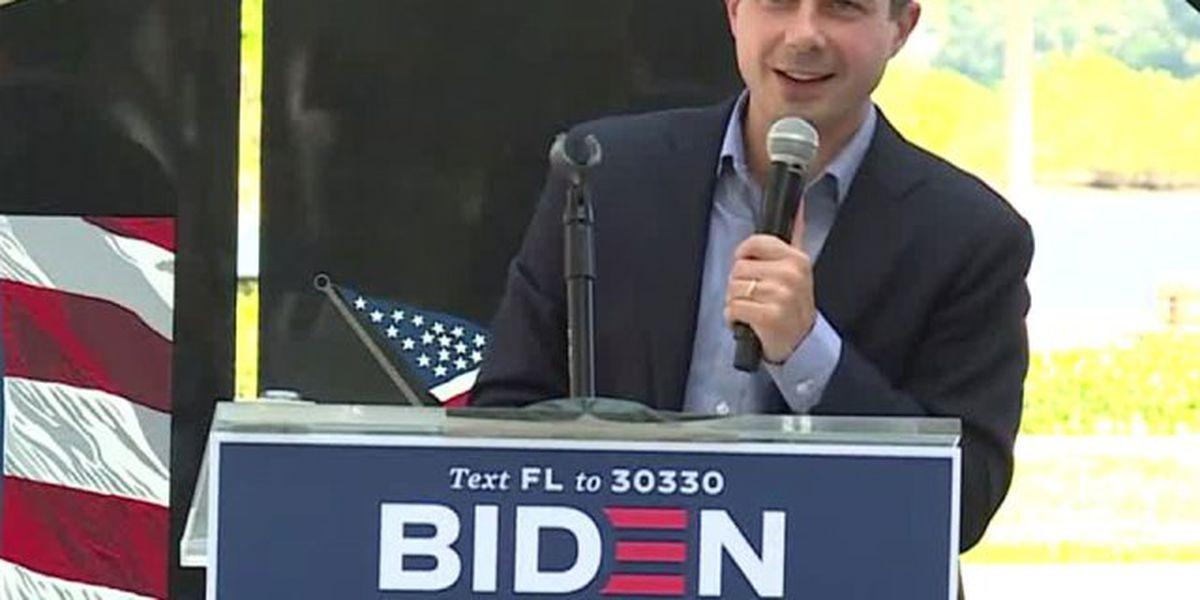 Pete Buttigieg campaigns for Biden in West Palm Beach